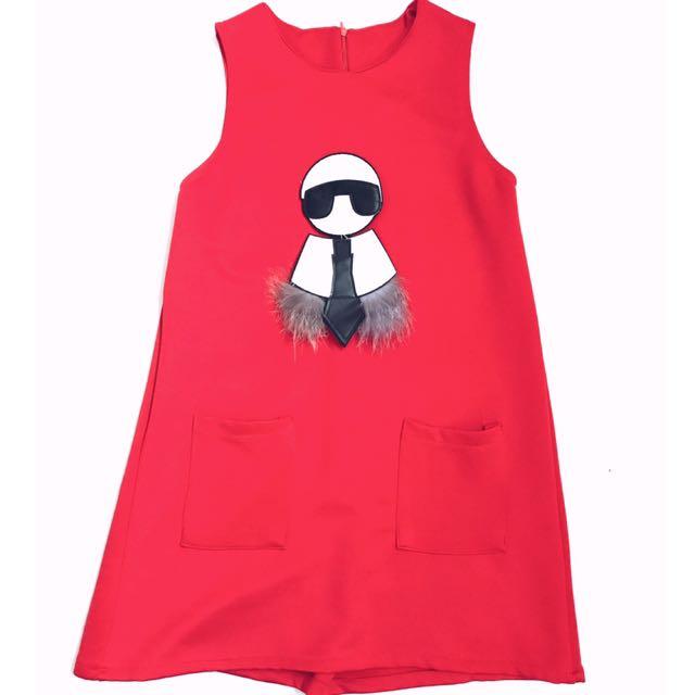 dress merah carlito