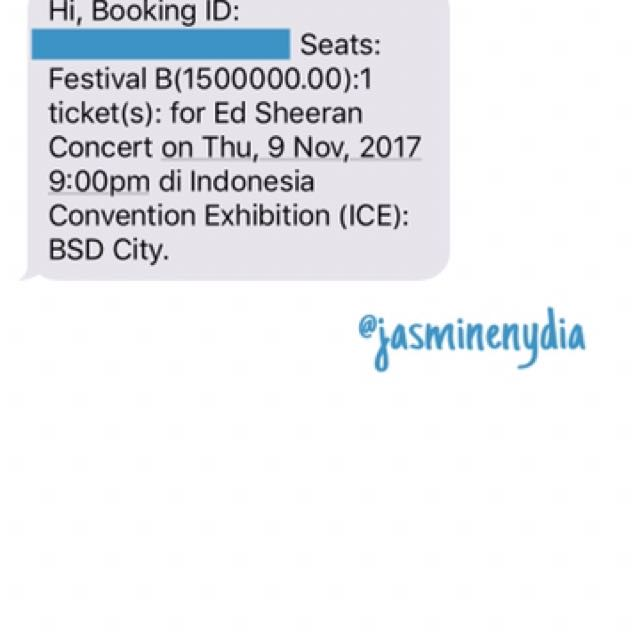 ED SHEERAN'S FES B SHOW IN ICE BSD