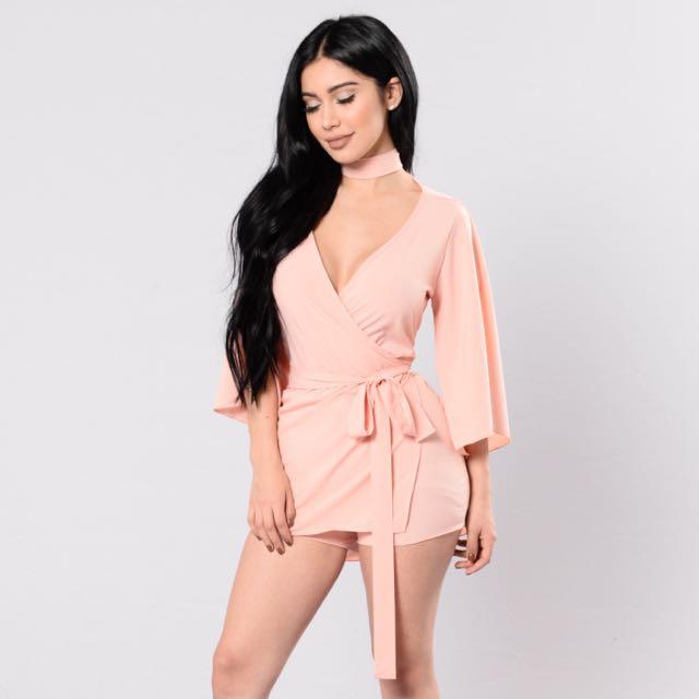 Fashion Nova Pink Romper