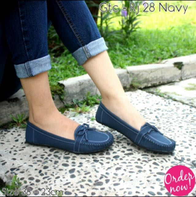 Flatshoes Navy