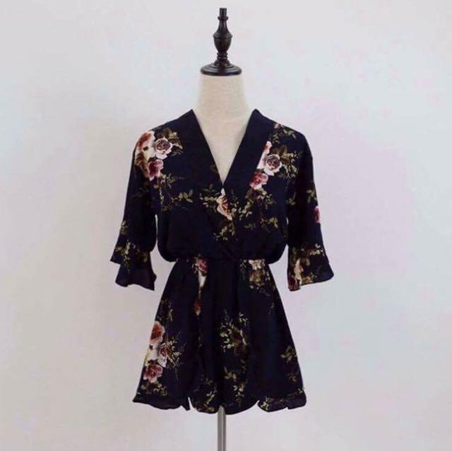Floral Kimono Jumpshorts