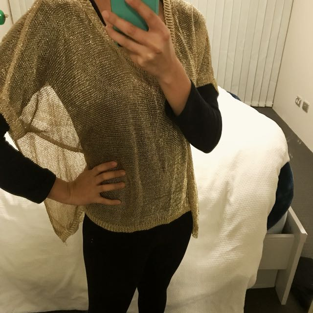 Gold Chain mail Blouse