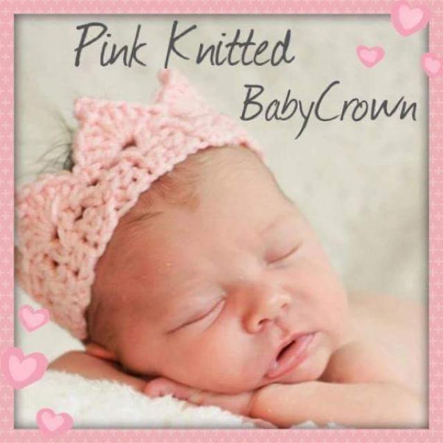 Gorgeous Newborn Knitted Crown Headbands