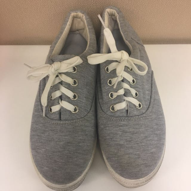 Gray Fabric Sneakers