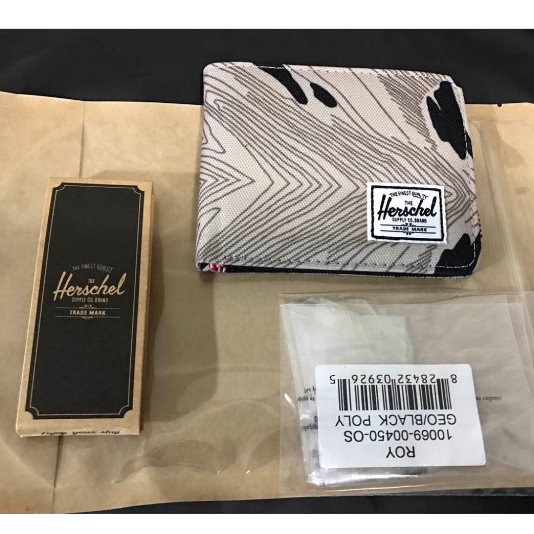 「現貨」Herschel Roy Wallet 皮夾 短夾 帆布 輕薄 大理石花紋