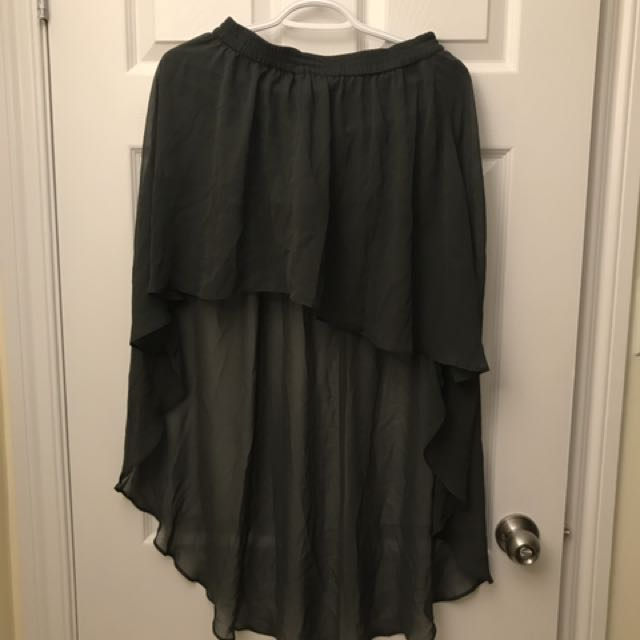 High low Skirt Green