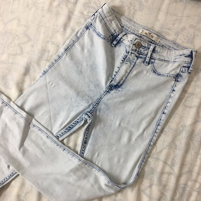 Hollister Acid Wash High Waist Pants