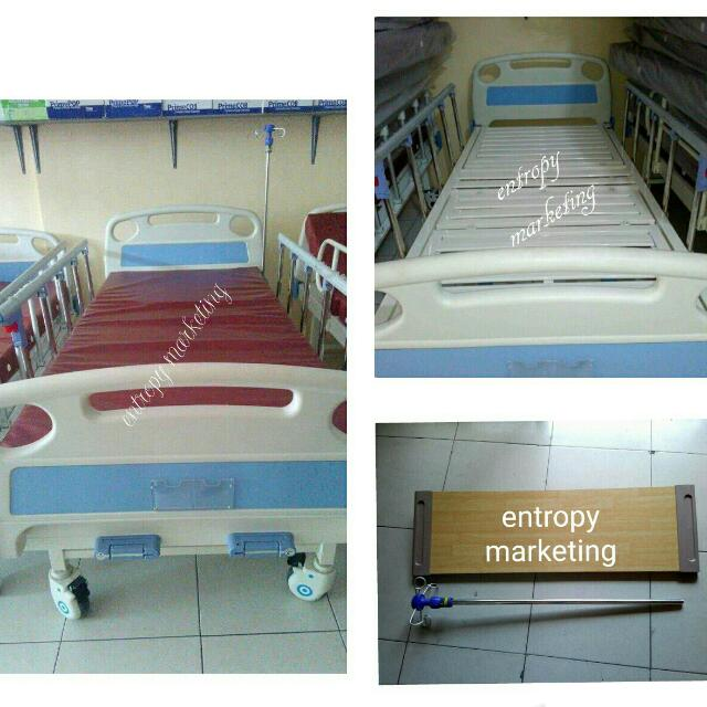 Hospital Bed With Mattress And Sliding Siderails
