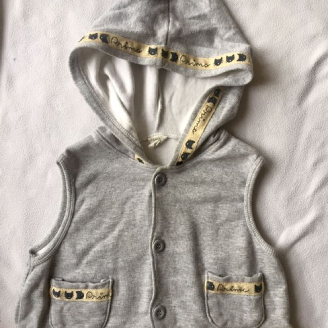 Imported Sleeveless Hoodie For Baby Boy
