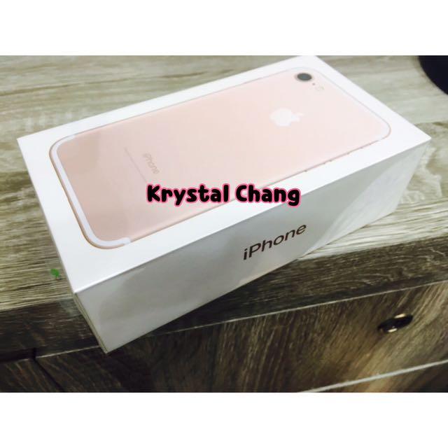 iPhone7 32g 空機 玫瑰金 可面交 全新 保固一年 iphone7 apple 蘋果 iPhone7空機