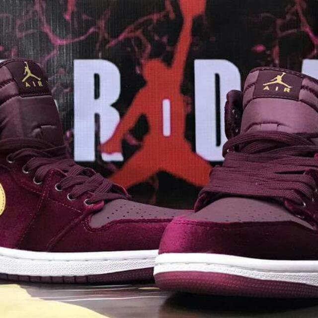 sports shoes e312d c0ee6 Jordan 1 Heiress Red Velvet, Sports, Athletic & Sports ...