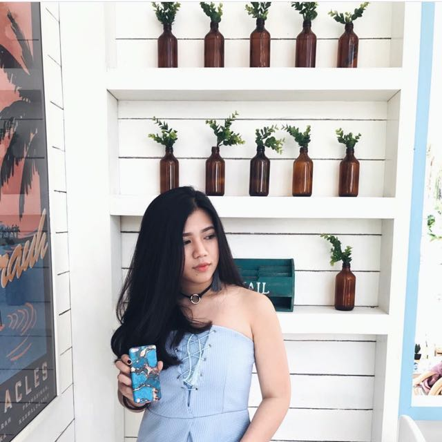 jumpsuit light blue
