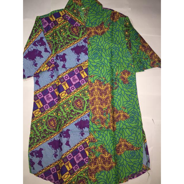 Kemeja Batik Hijau