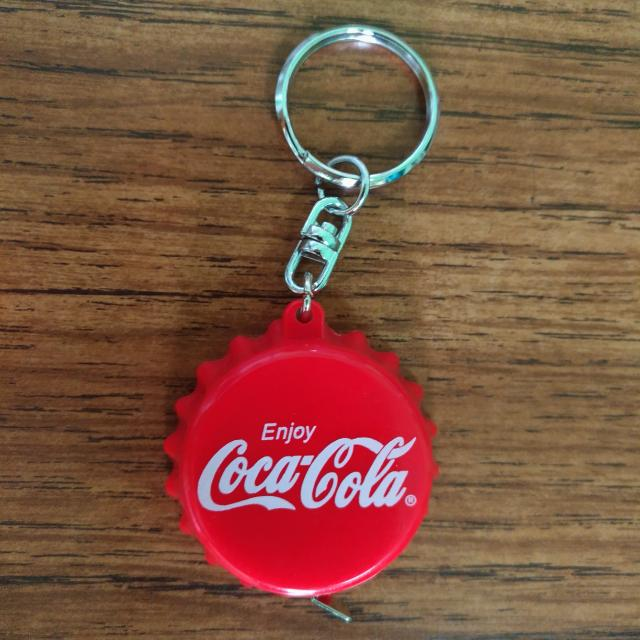 Keychain Coca Cola with 1m Measuring Tape