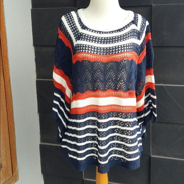 Knitted Colorful batwing Top
