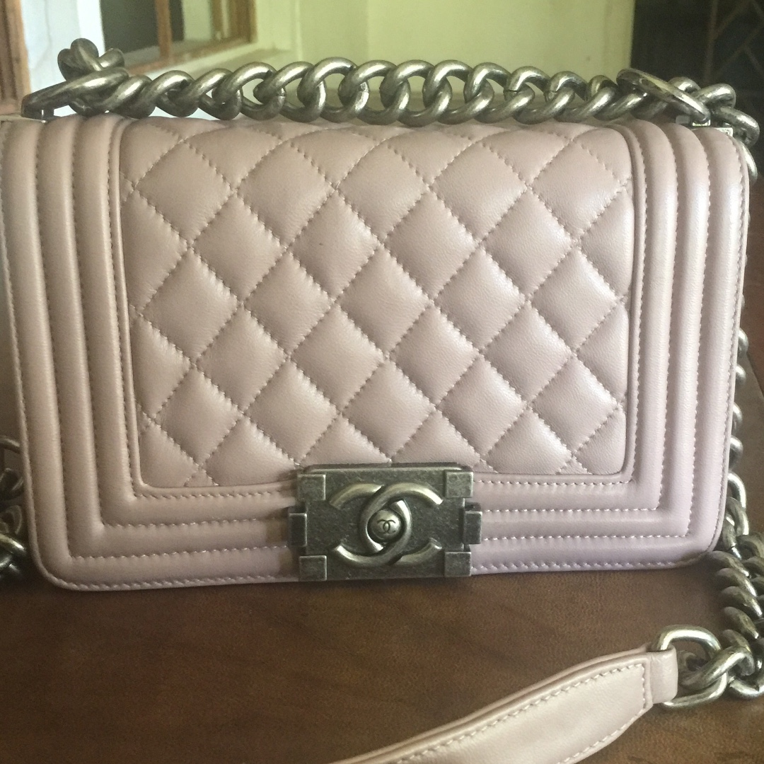 Light Pink Rose Small Chanel Le Boy Lambskin