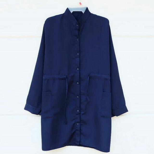 LONG PARKA (NAVY)