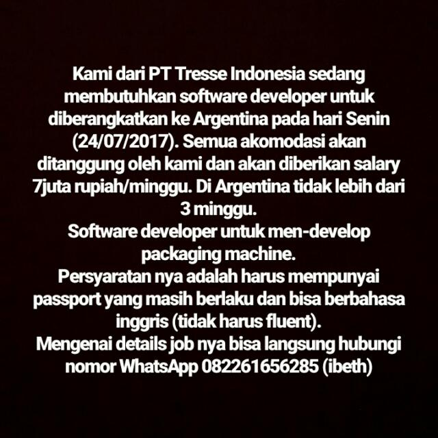 Lowongan Software Developer