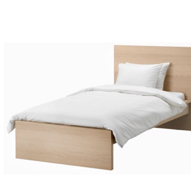 Ikea Bed 120x200.Malm From Ikea Bed Frame High White Stained Oak Veneer Luroy