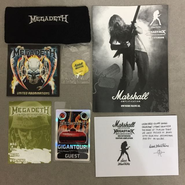 Marshall MG Series MG15FXMSDM Dave Mustaine Megastack Amp Head And Cabinet Megadeth