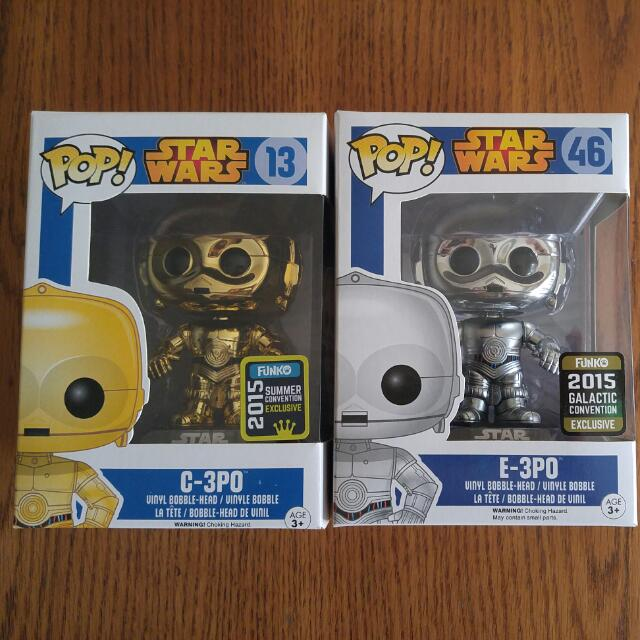 Mettalic Star Wars Funko Pops