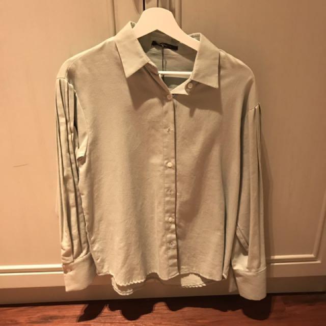 Mint Green Korean Long sleeve shirt Brand New!