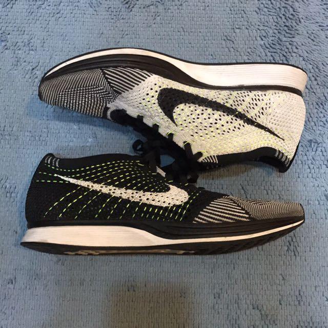 Nike Flyknit racer 陰陽 綠線
