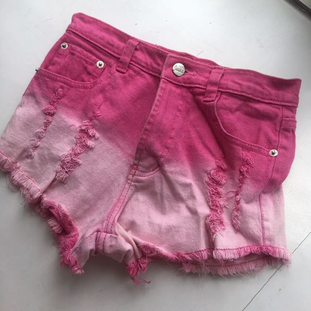 Ombre Pink Shorts
