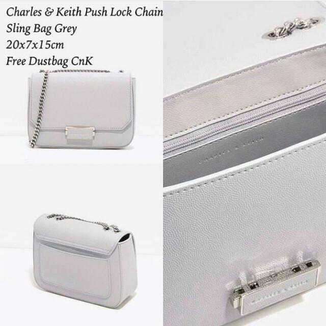 ORIGINAL Charles & Keith Grey