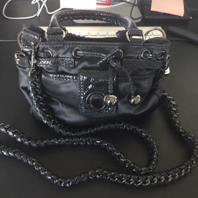 Oroton Chain & Satin Bag