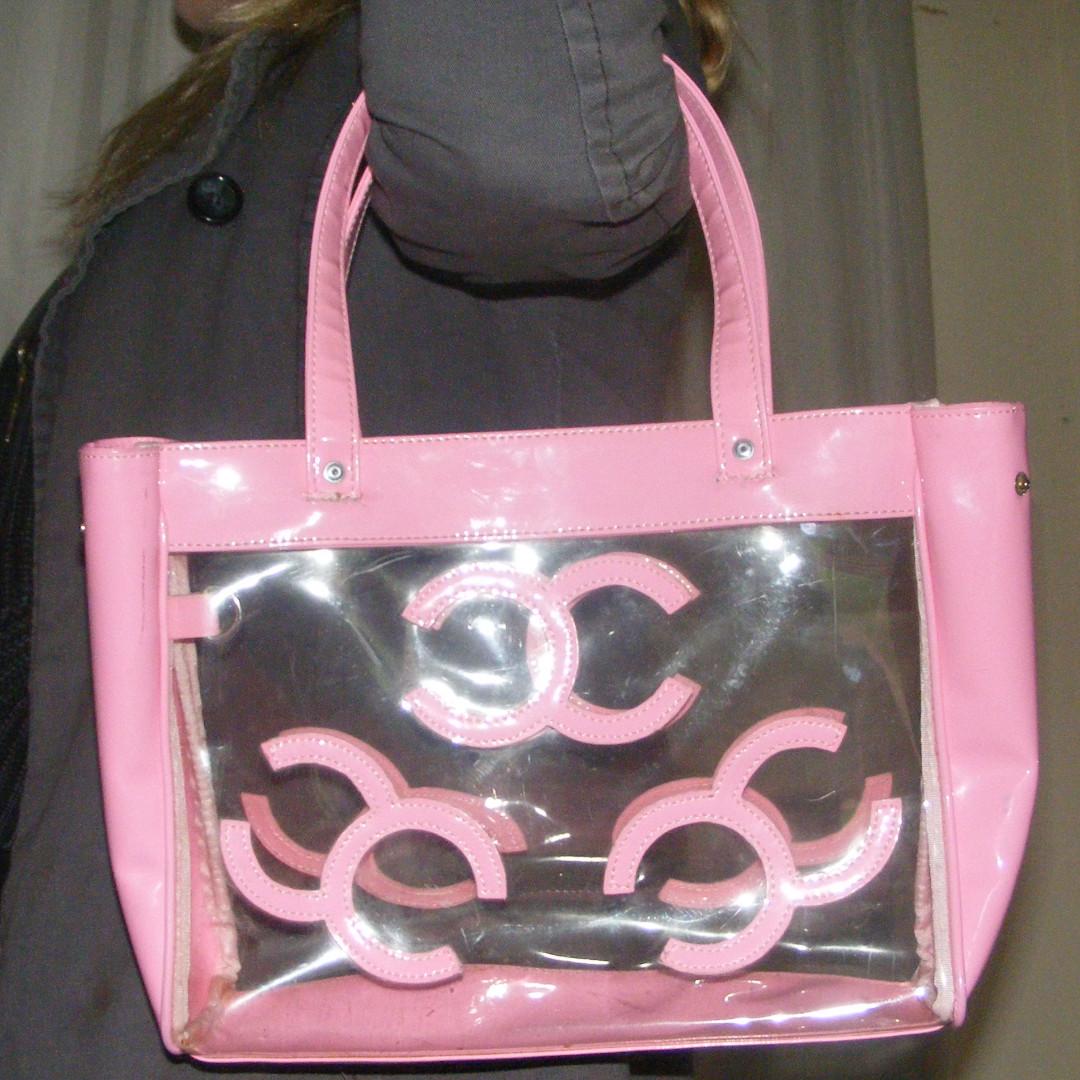 Pastel and clear handbag
