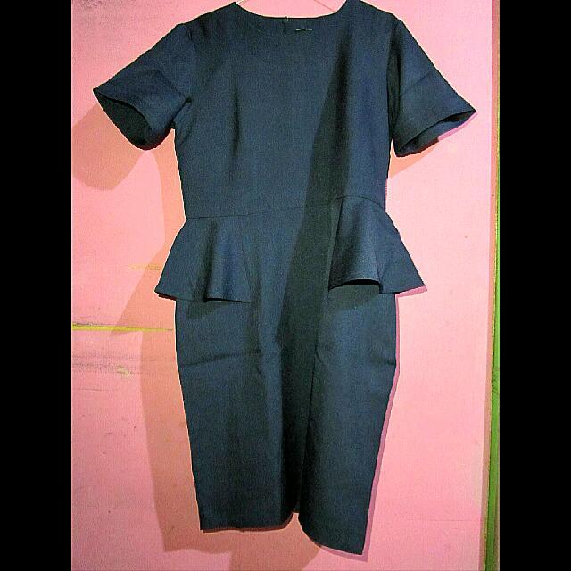 PS Career Peplum Navy Dress