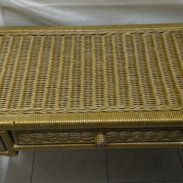 Rattan Table And Mirror