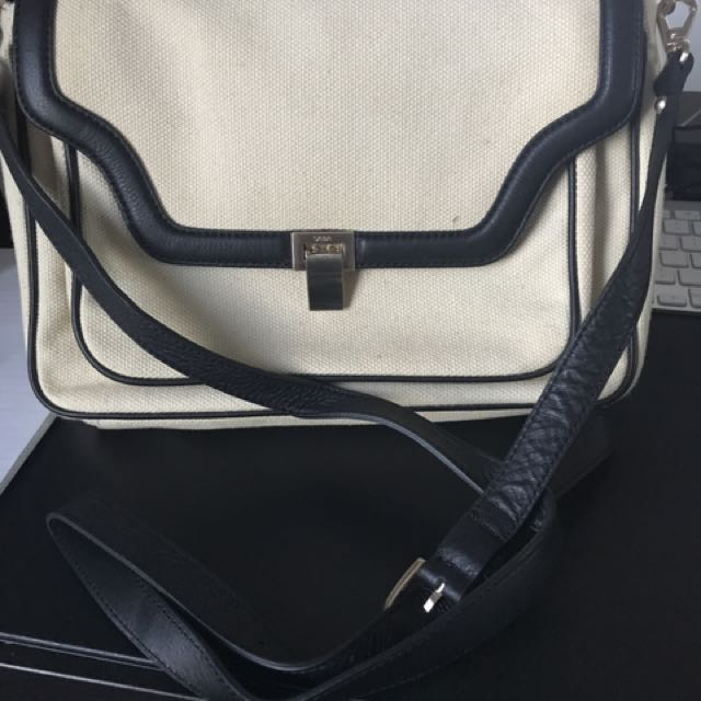 SABA Canvas And Leather Bag