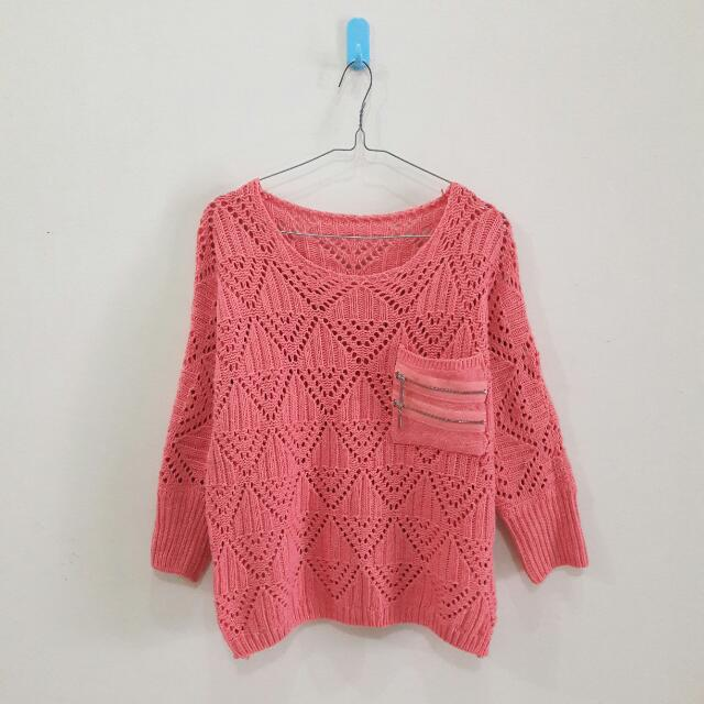Salmon Pink Sweater
