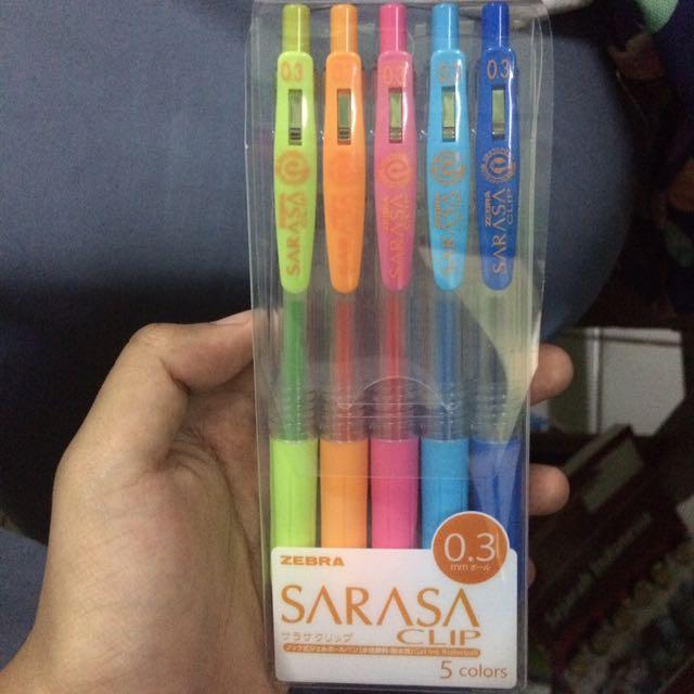 Sarasa zebra pen 1 pack 0.3