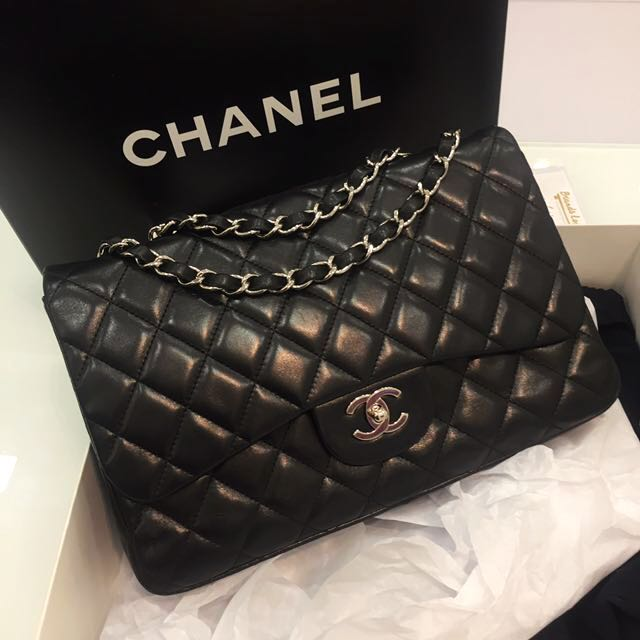 8b9416e8433851 ❌SOLD❌ Full Set! Very Good Condition Chanel Jumbo Single Flap Bag ...