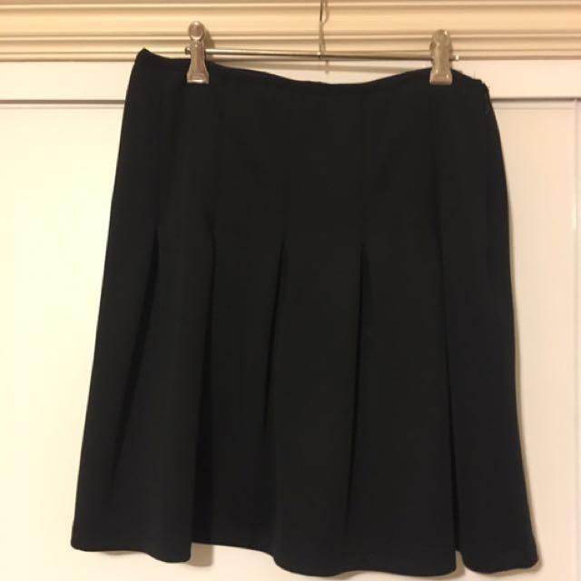 SEED Black Pleated Skirt