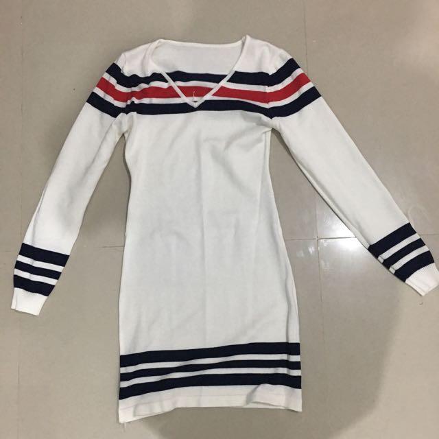 Semi Casual Longs Sleeve-White