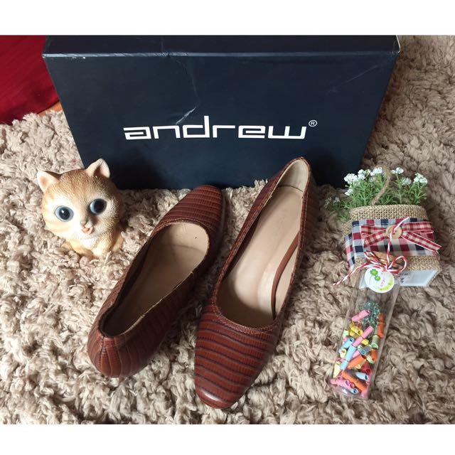 Sepatu Kulit ANDREW Leather Size 35