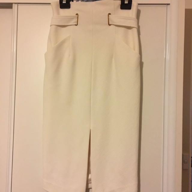 """""""Sheike"""" Off White High Waisted Skirt"""