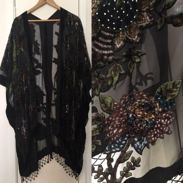 Silk Kimono/shawl