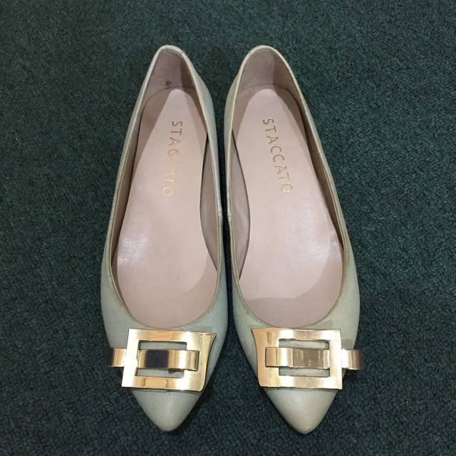 staccato olive shoes