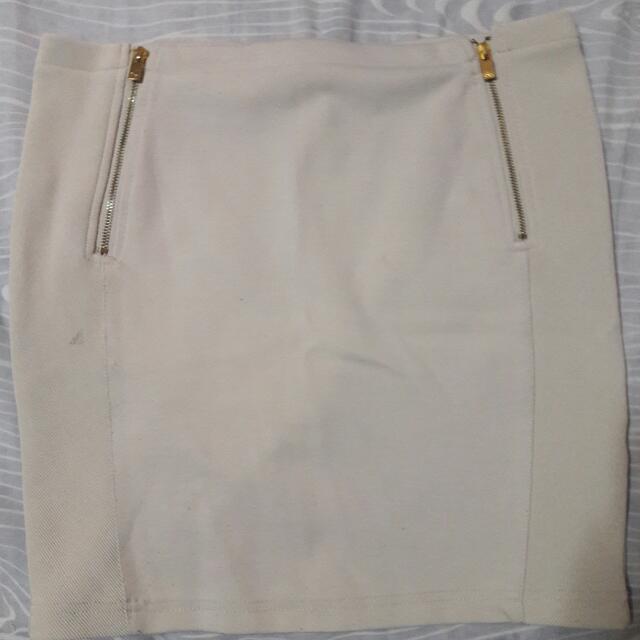 Stradivarius Beige Skirt