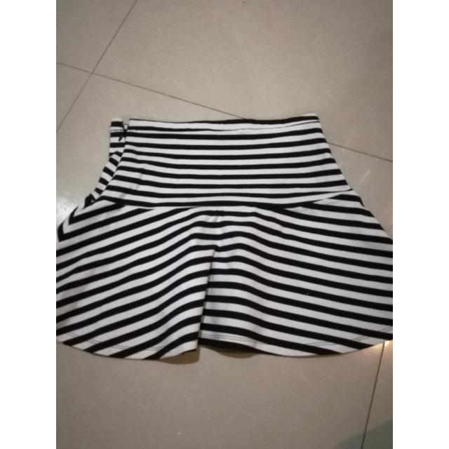 Stripes Banded Skirt Ala Zara