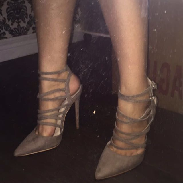 Suede Nude Shoes