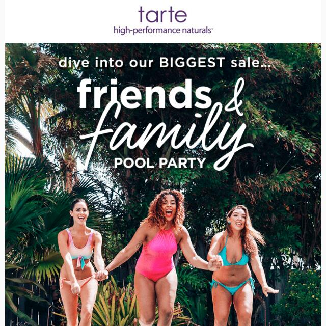 Tarte 25% OFF FRIENDS & FAMILY