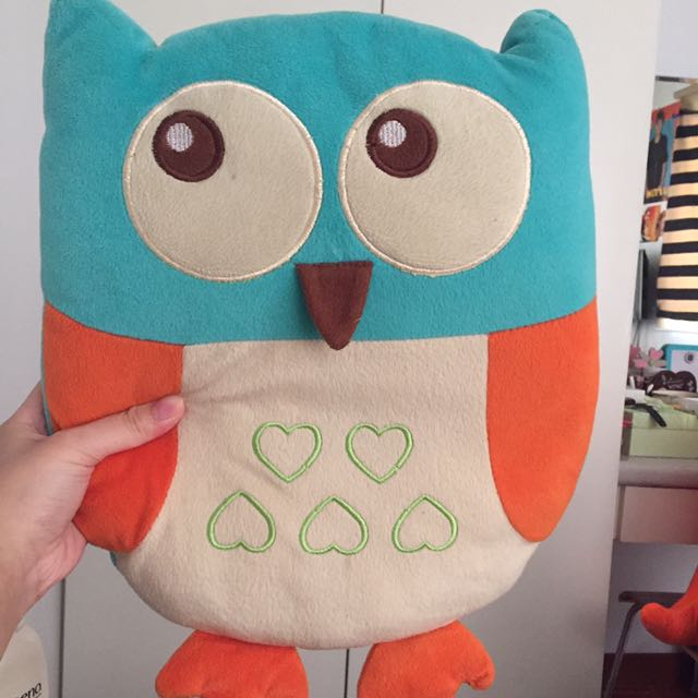 Teal Owl Pillow
