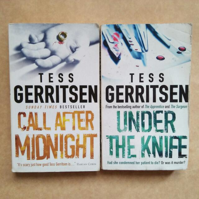 Tess Gerritsen Books - Call After Midnight and Under The Knife