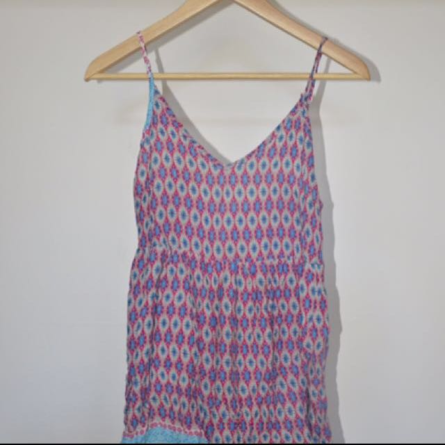 Thai Patterned Playsuit